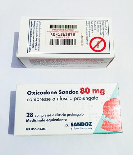 Acquista Ossicodone 80mg Sandoz